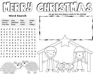 Christmas Placemats Modern Homemakers Christmas Placemats Printable Christmas Decorations Christmas Sunday School