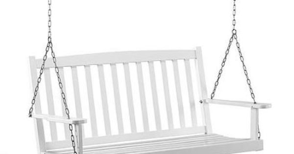 Mainstays white wood porch swing walmart price 129 exterior