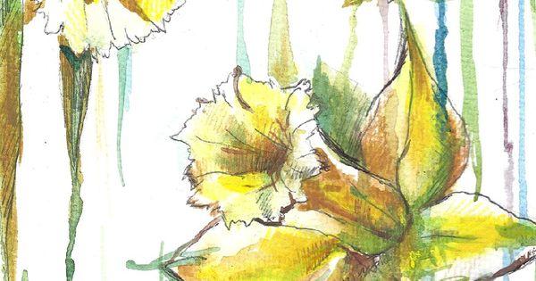 Narcissus...Daffodils... Original Watercolor Painting. $28 ...