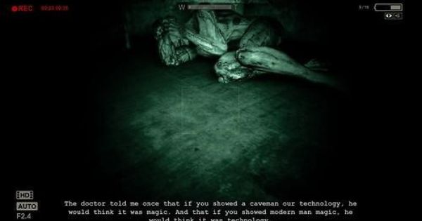 An Interesting Quote From Outlast Outlast Game Video Games Horror Game