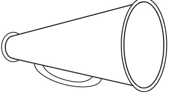 megaphone coloring pages - photo#7