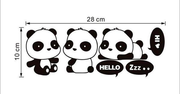 panda cute light switch sticker funny vinyl wall decals