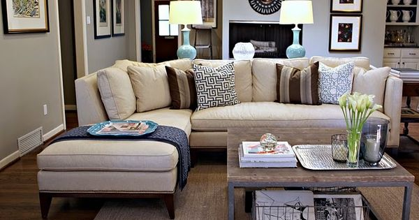 Coffee table and couch color...goes great with grey walls