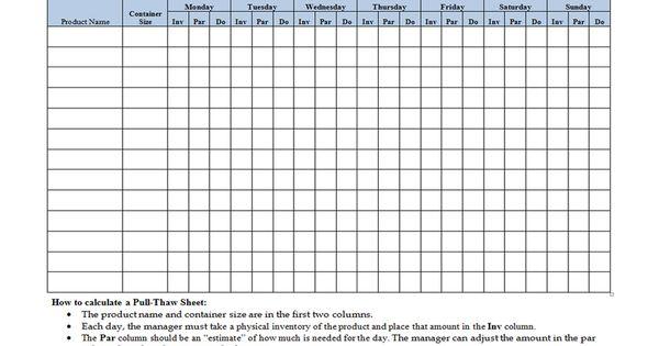 Kitchen Inventory Sheets | workplace-wizards-restaurant ...