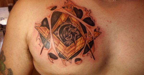 New Tattoo Design: Cool Masonic Tattoo Design