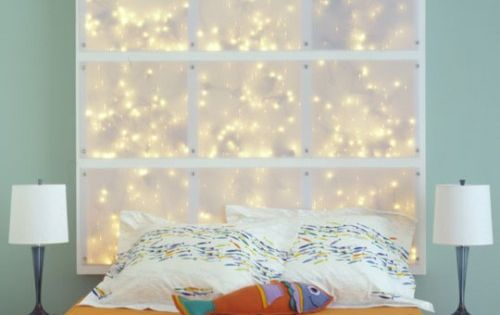 String Lights Headboard Diy : Decor Ideas With String Lights Light headboard, Diy headboards and Lights