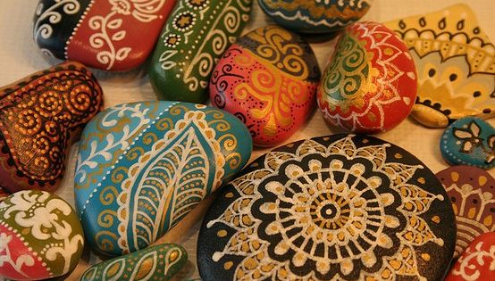 Painted rock Art & Craft Ideas. pebbles art craft diy