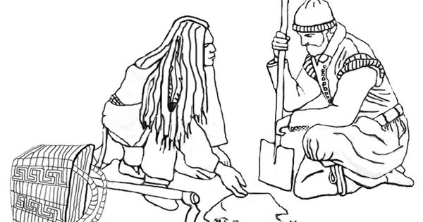 Squanto thanksgiving coloring page squanto shows a for Squanto coloring pages