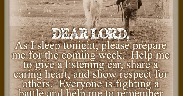 a prayer for the coming week