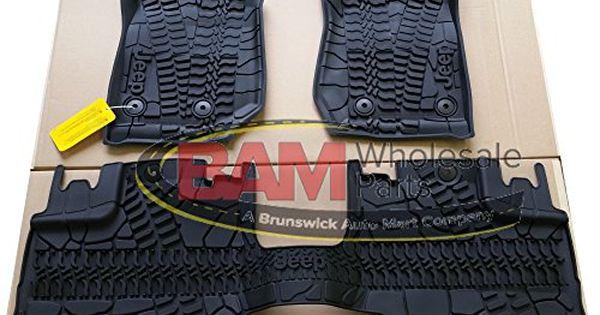 Mopar 82213860 Black All Weather 3 Piece Floor Mat Set 4 Door Jeep Wrangler Jeep Wrangler 2017 Jeep Wrangler