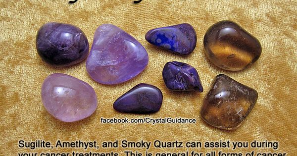 Crystals for Cancer — Sugilite, Amethyst, and Smoky Quartz can assist you
