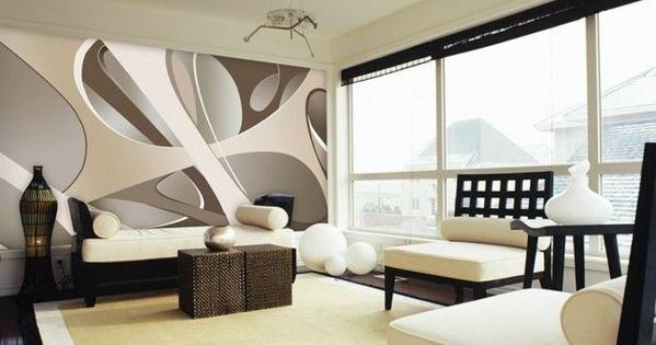 attraktive ausgefallene 3d tapete unikales wohnzimmer gestalten tapeten pinterest 3d. Black Bedroom Furniture Sets. Home Design Ideas