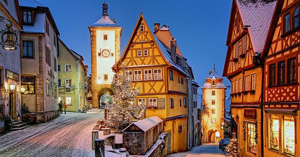 The storybook village of Rothenbürg is found along Bavaria's Romantic Road and