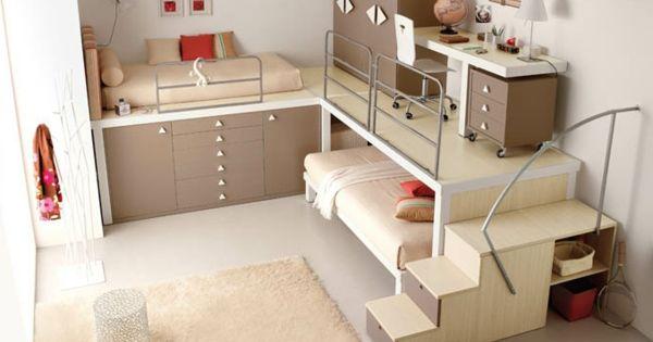 60 id es pour un am nagement petit espace chambre ado - Idee deco chambre ado petit espace ...