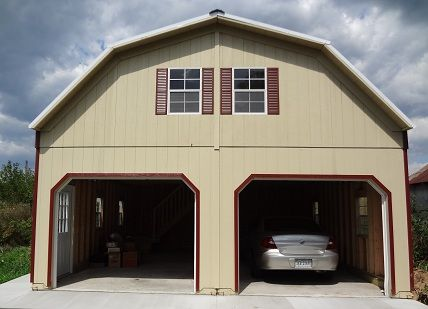 Amish Built 2 Story Garages Two Story Garages In Virginia Prefab Prefab Garages Two Story Garage