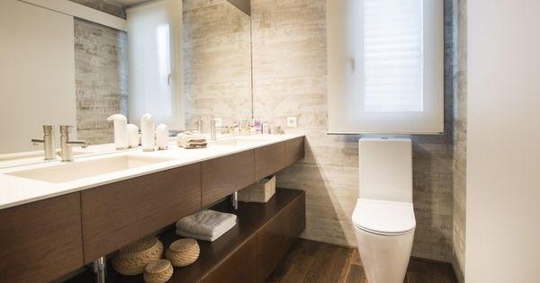 Wandbilder badezimmer ~ Badezimmer bilder holz waschtisch corian waschbecken arbeitsplatte