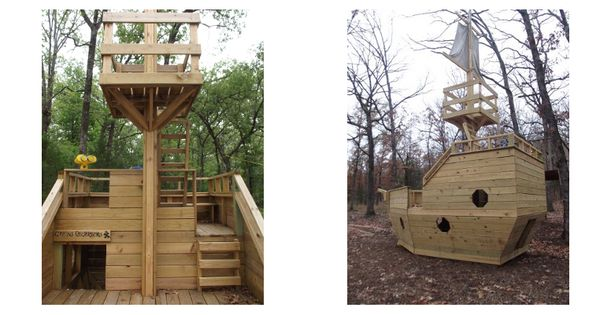 Playhouse Swing Set Plans Pirate Ship Plans To Build A