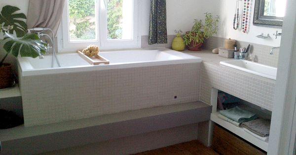 Une baignoire avec vue sur le jardin chez moi il y a for Baignoire oiseaux jardin