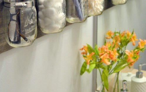 Mason Jar Christmas Gift Ideas | Mason Jar Bathroom Organization | Using