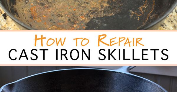 how to clean an old cast iron skillet