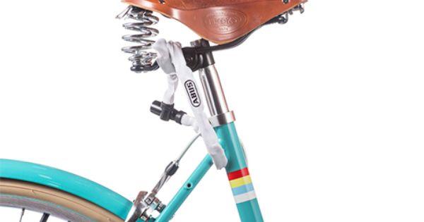 Abus 1500 Chain Seat Lock Bicycle Seats Bike White Bicycles