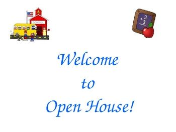 FREE DOWNLOAD : Open House FREEBIE | TpT FREE LESSONS