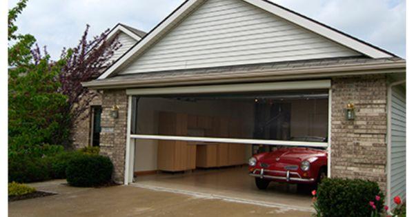 Retractable Garage Door Screens Ventilation And Pest Protection Garage Doors Garage Screen Door Doors