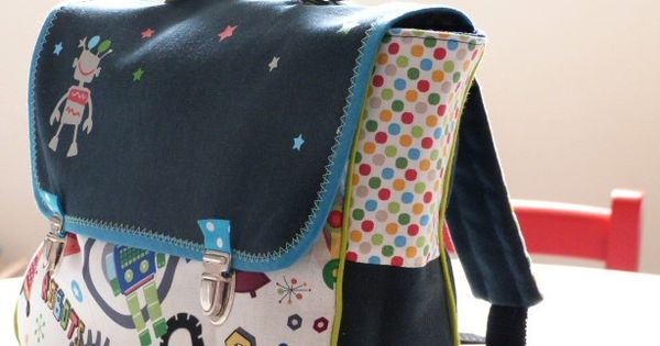 Mon jardin couture cartable maternelle pas de patron for A couture mon