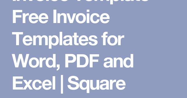 invoice template - free invoice templates for word, pdf and excel, Invoice examples