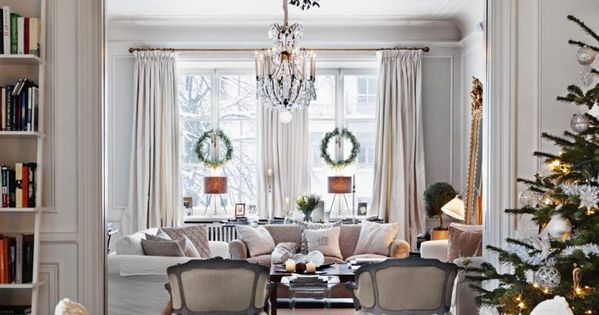 Beautiful home decorated for the holidays