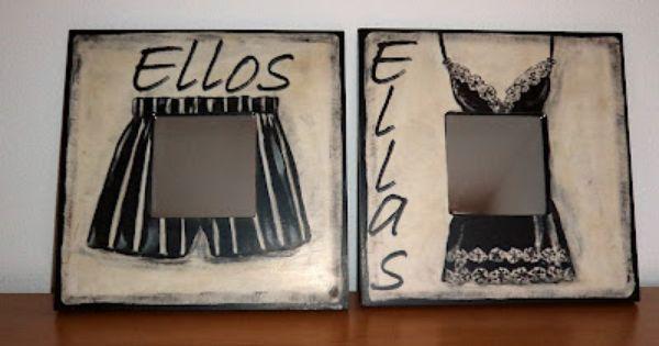 Espejitos para puerta de ba os de restaurante espejos for Cuadros para banos ikea