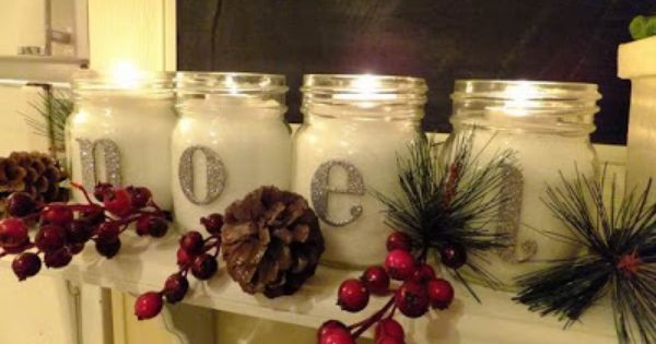 Joy Jars Christmas Tutorial Christmas Jars Mason Jar Decorations Christmas Lights Garland