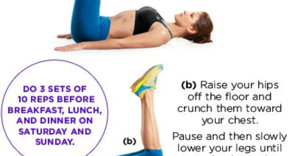 Reverse crunches ab workout at home