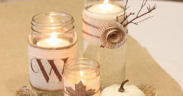 Burlap Wedding Table Decorations | ... Cottage: Burlap Month Features: 10 Burlap-Inspired