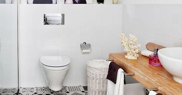 Glamour en el ba o con hidr ulico mi casa revista for Azulejo hidraulico bano
