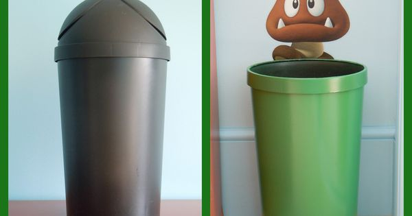 Super Mario Bros Bedroom I Love This Trash Can So Cute Cute Stuff Pinterest Super