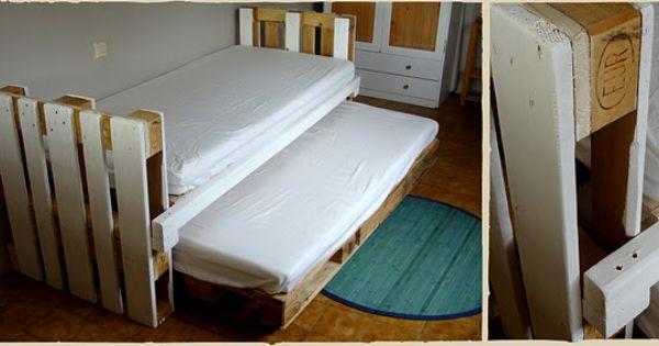 Lit double palette dec deco pinterest camas nido - Camas infantiles economicas ...