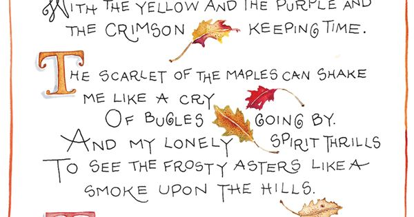 There is something in the Autumn ... Illustration by Susan Branch