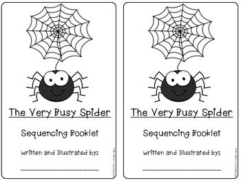 Sequencing The Very Busy Spider By Eric Carle The Very Busy