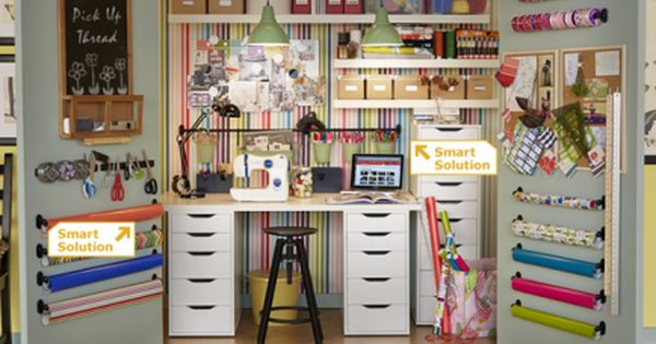 Closet as a Workspace I've always liked the idea of using a