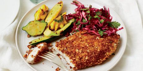 Almond Chicken Cutlets with Tangy Cilantro Slaw | Recipe | Almond ...