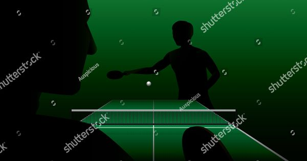 Vector Silhouette Of Table Tennis Player Athlete Sport Game Competition Ad Affiliate Table Tennis Vec Table Tennis Player Table Tennis Competition Games