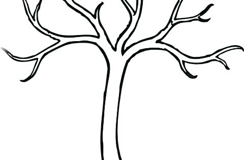 coloring bare tree clip art