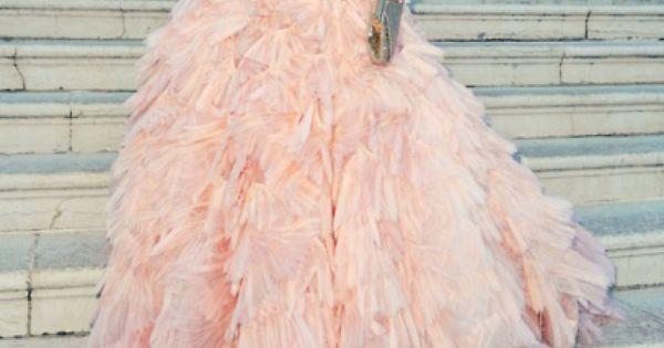 pale pink ruffles