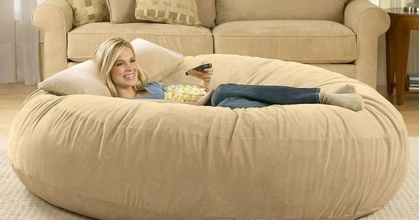 Brookstone giant bean bag chair - perfect for movie night in!
