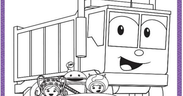 Umicar Amp Dump Truck Printable Coloring Page Teamumizoomi