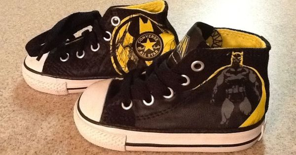 Converse All Star High Top Shoes Batman Size 5 Toddler