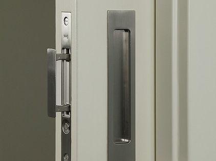 Inexpensive Pocket Door Hardwarein The Edge Of A Door With