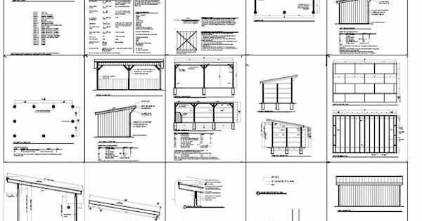 12x24 Run In Shed Plans With Lean To Roof Projects To