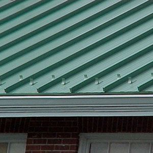 Snow Ice Breaks Metal Roof Roofing Cottage Exterior